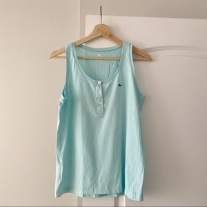 Lacoste Baby Blue Cotton Tank Top 42 Medium Small